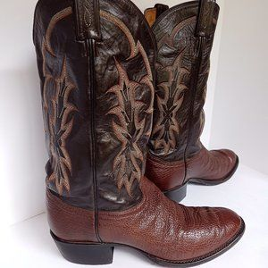 Tony  Lama Brown Leather Men's Boot Sz 10 D